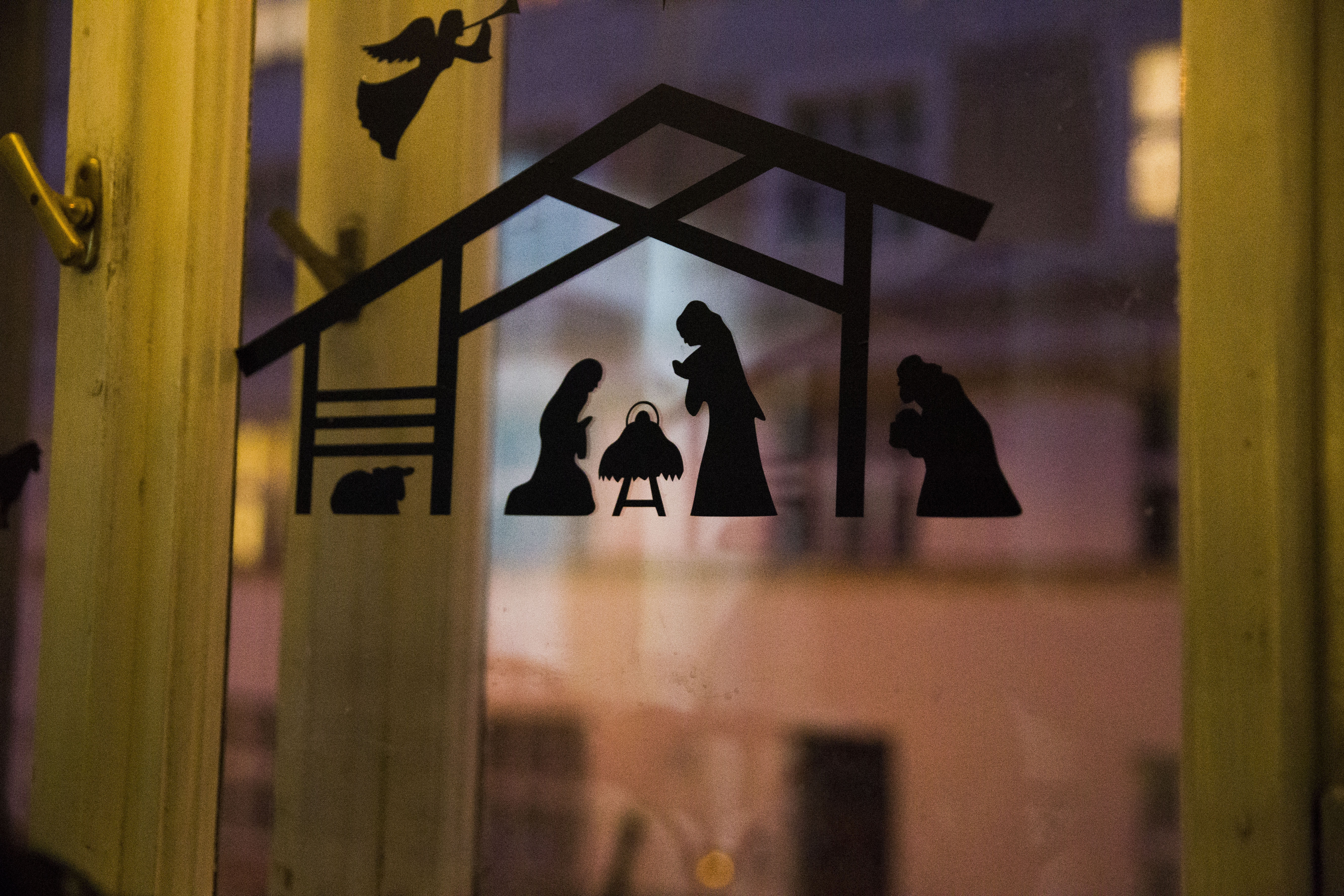 nalepovací Betlém na okno